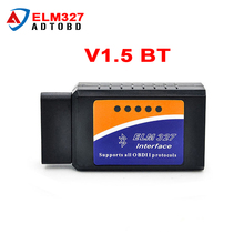 ELM 327 V1.5 BT adapter Works On Android Torque Elm327 Bluetooth V1.5 Interface OBD2 / OBD II Auto Car Diagnostic-Scanner