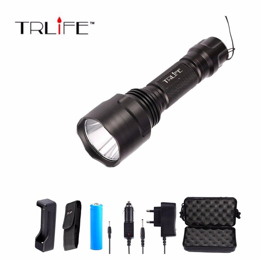 LED CREE XML L2/T6 lampe de Poche 8000 lumens Torche haute puissance Tactique Lampe de Poche + Chargeur + 1*18650 Batterie + Étui