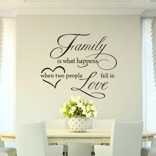 family si what happen english quotes wall stickers adesivos de parede para quarto vinyl art wall. Black Bedroom Furniture Sets. Home Design Ideas