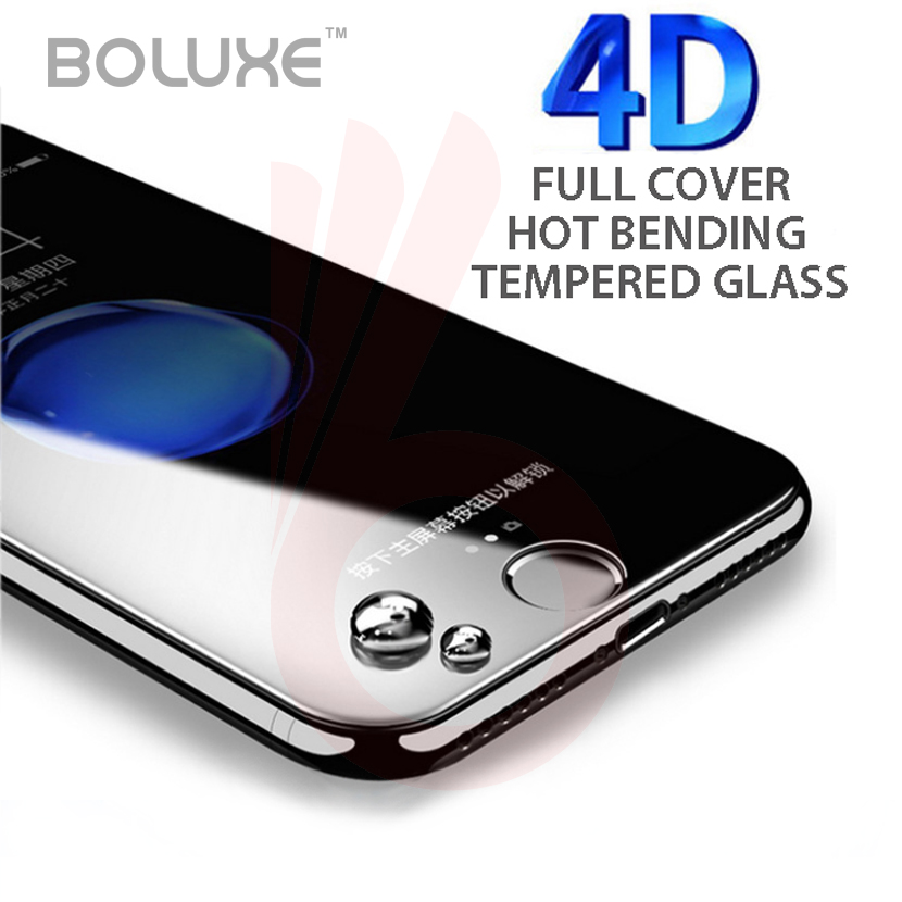 bilder für BOLUXE 4D Warmbiegen Gehärtetem Glas Displayschutzfolie glas für iPhone 7 7Plus6 6 6 plus glas schutzfolie 50 teile/los