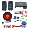 Universal version one way car alarm system with remote engine start stop shock trigger alarm and central door locking automation