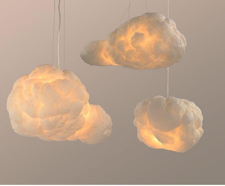 Luminária pendente em forma de nuvem para