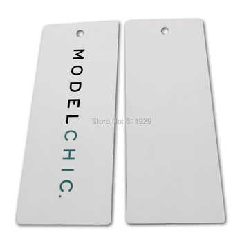 1000 pcs Customized 700gsm paper garment clothing bag hang tag/swing tags/labels/thick laminated paper tag/glossy cardboard tag