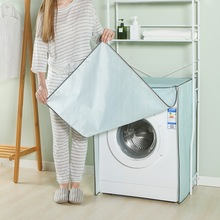 Liten og fersk twill-stil Vanntett solbeskyttende vaskemaskindeksel Vanntett veske Vaskemaskin Beskyttende støvjakke