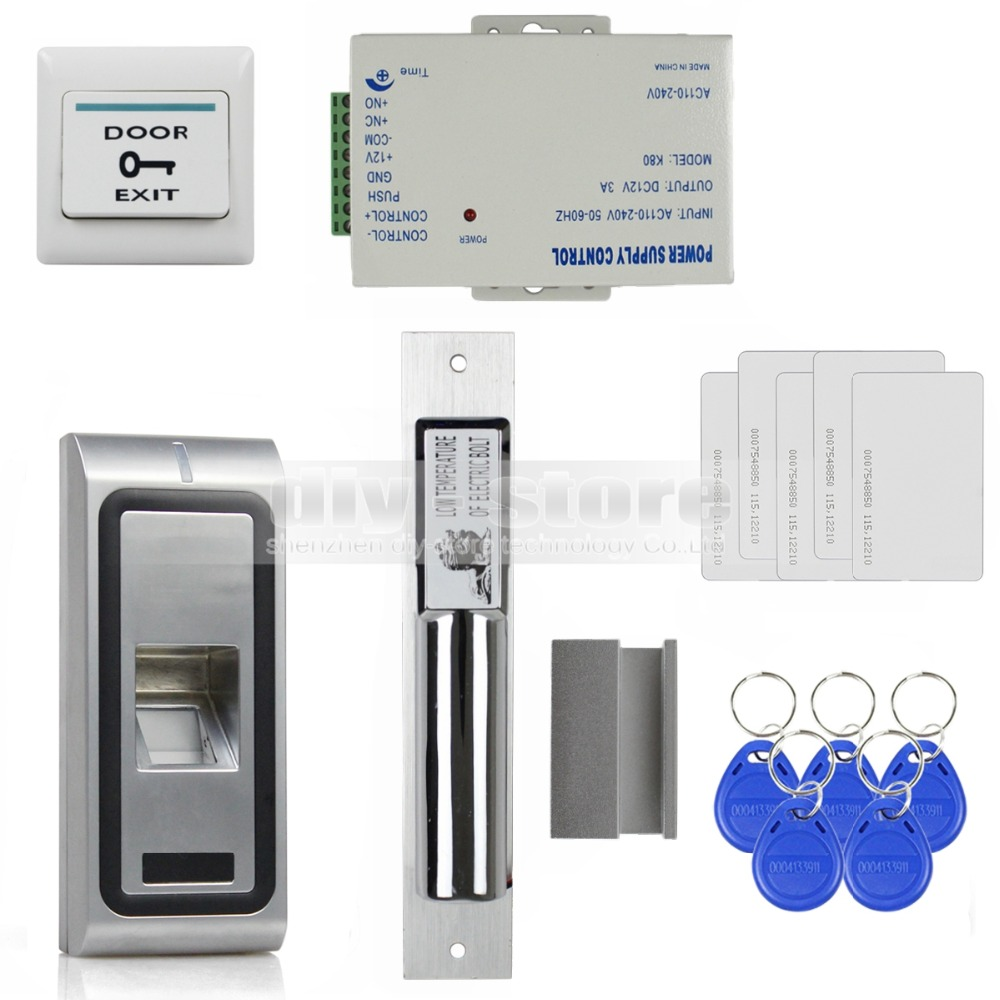 Door Access Control : Diysecur remote control fingerprint khz rfid id card