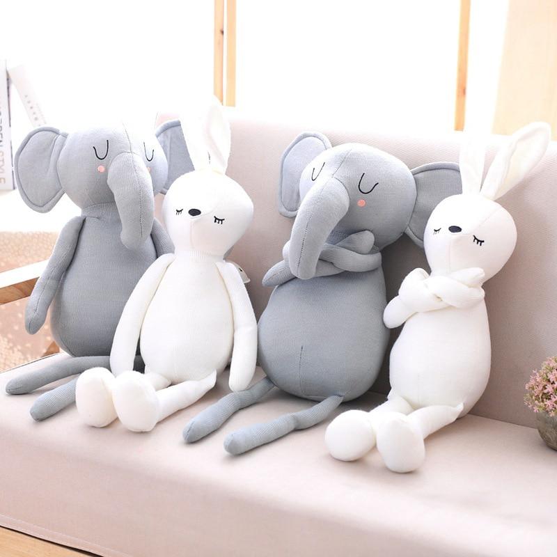 Image 2 - Милые подушки с кроликом для маленьких девочек, мягкие игрушки с животными, подушка для детской кровати, украшения детской комнаты, подарок для детейПодушка   -