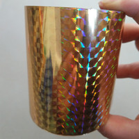 Hot Stamping Foil Holographic Foil A02 Gold Check Design Hot Press On Paper Or Plastic Heat