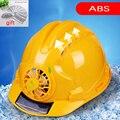 Sommer Solar Fan Helm ABS Material Arbeit Anti-milbe Baustelle Atmungs Sonnencreme Solar Energie Generation Sicherheit Helm