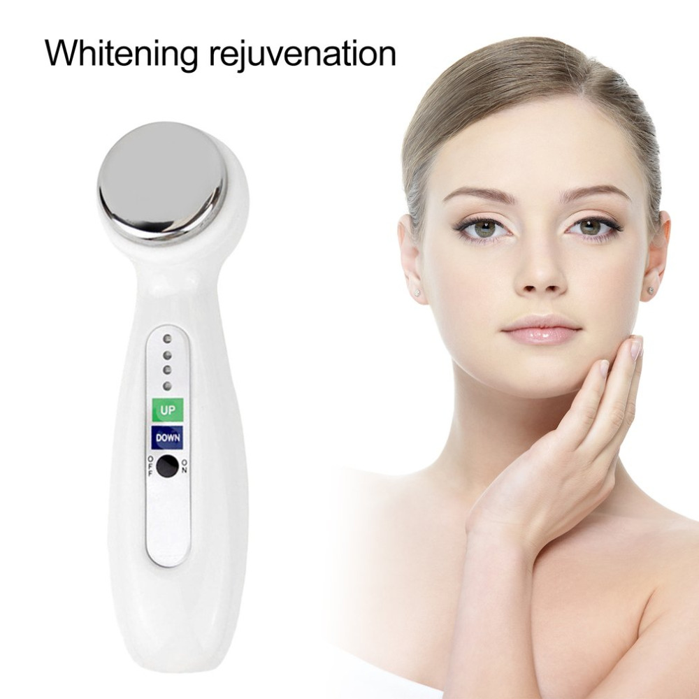 2017 New Hand Held Mini Household Face Massage Ultrasonic Beauty Instrument Electric Slimming Massager Whitening Face Skin Tool