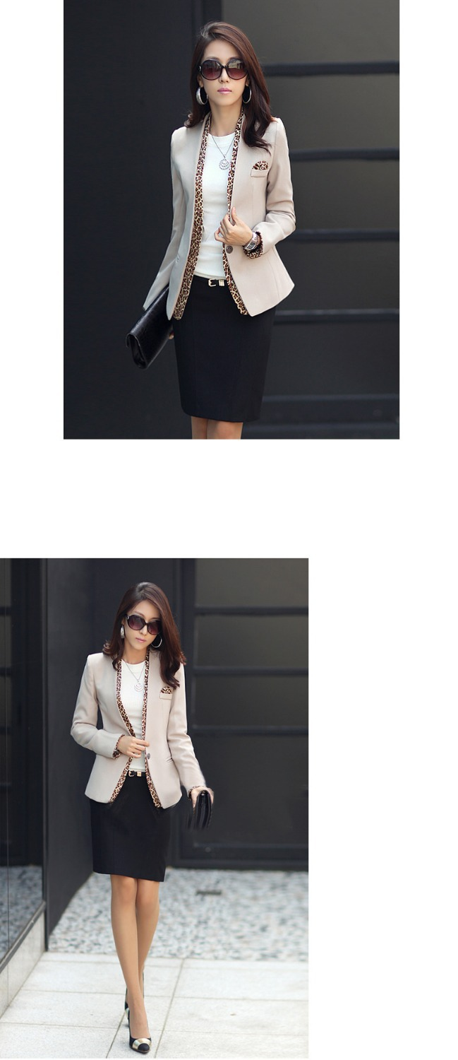 b98796d698c0 2015 girls leopard blazer women s spring summer coat fashion jacket one  button leopard decorated jacket-in Blazers from Women s Clothing on  Aliexpress.com ...