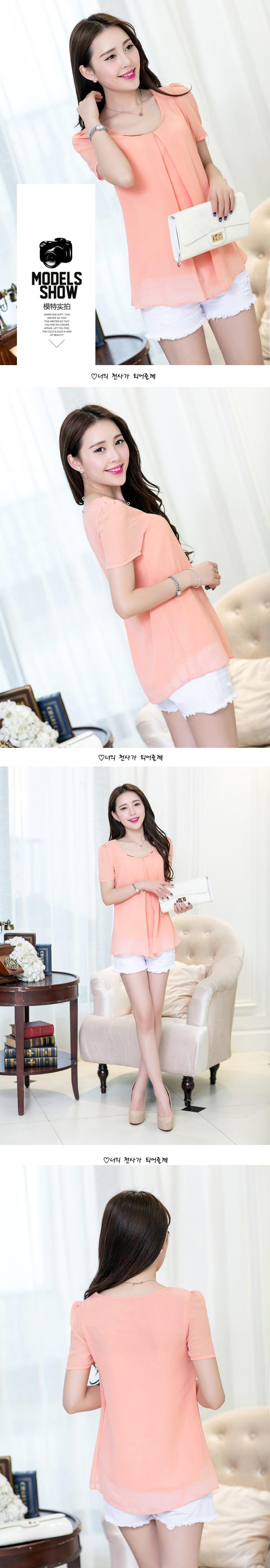 HTB1M0M PVXXXXc apXXq6xXFXXXf - Women's Chiffon Blouse Shirt 2017 Short Sleeve Plus Size 3XL