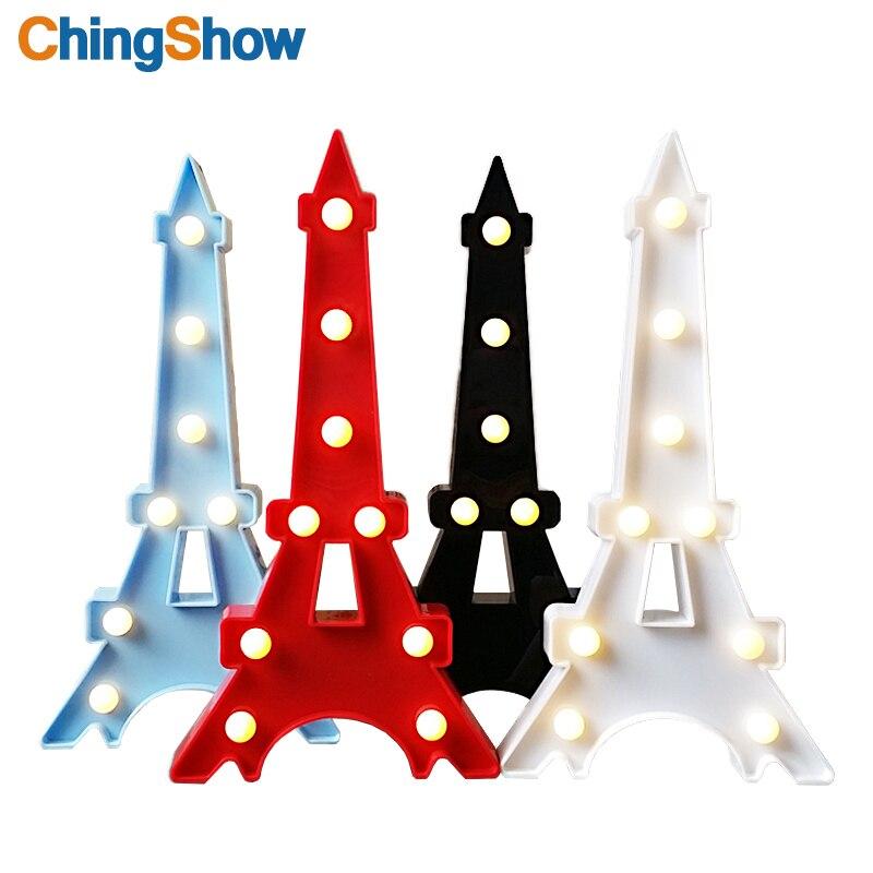 4 Farben Neuheit Tier Eiffel Tower Lampe LED Nachtlicht Dekorative 3D  Festzelt Zeichen Lichter Schlafzimmer Kinderzimmer