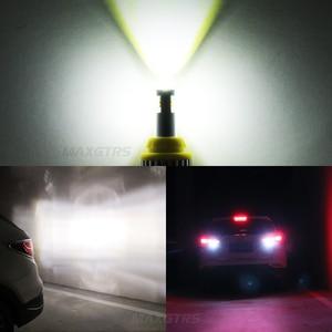 Image 5 - 2x T15 LED 1156 BA15S 7440 W21W 3030 لمبة W16W Led عكس ضوء المصباح في Canbus 921 912 سيارات احتياطية بدوره مصباح إشارة مصباح