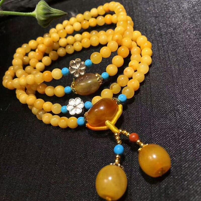 Оптовая продажа JoursNeige желтый натуральная руда браслеты из камней бусины с подвеска в форме шарика Ручной струны женский подарочный Шарм браслет ювелирные изделия - 2