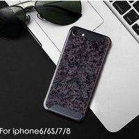 Pure carbon fiber phone case Luxury retro Original real carbon fiber Phone Case For Iphone 6 S 7 8 plus X S hard back cover