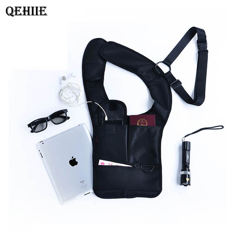 Multi-function security anti-theft hidden armpit shoulder bag mobile phone ipad key bag tactics men and women travel organizers