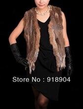 Free Shipping New Real Genuine natural Rex Rabbit Fur Vest women Gilet waistcoat tassel  Vest Outwear Garment