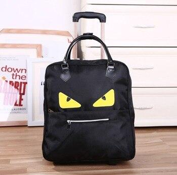 2018 nouveau sac Trolley Commercial voyage mode bagages sacs à main en cuir PU 20 pouces 36L-55L roulant sacs de sport étanche
