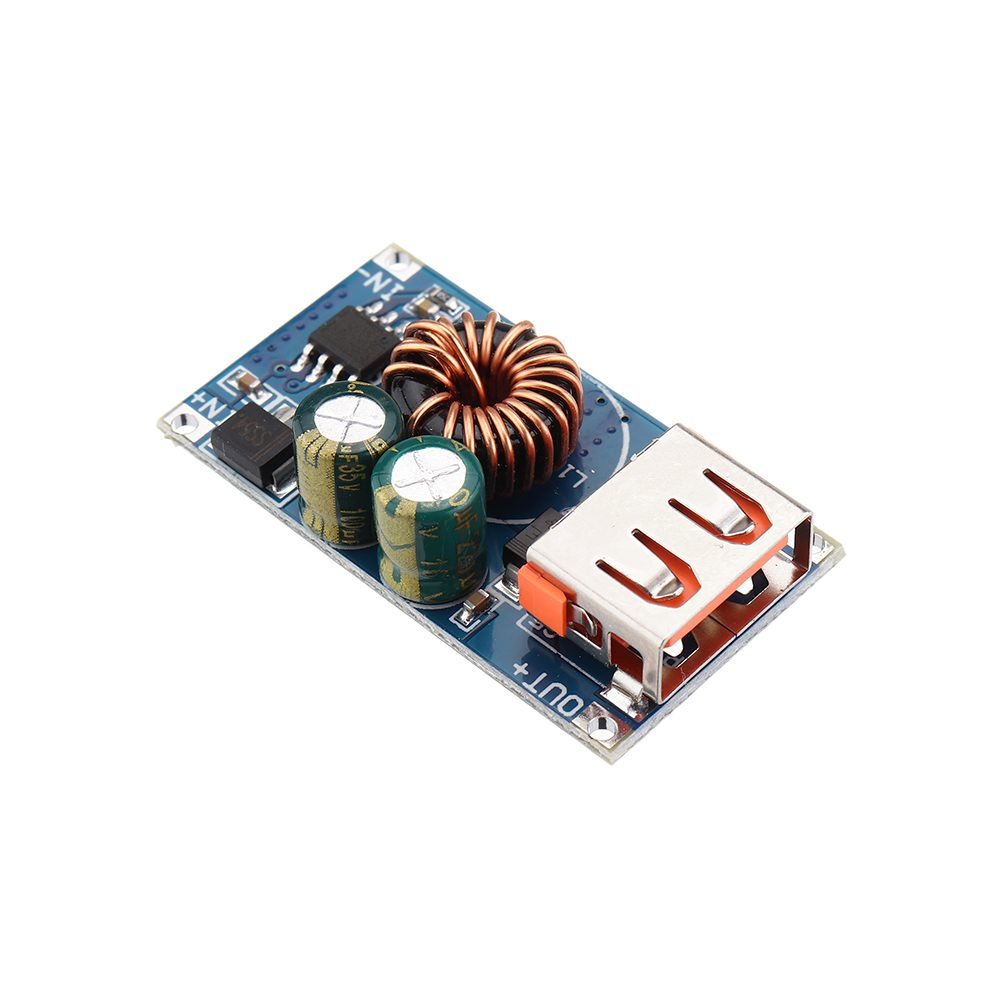 CLAITE DC12V24V to DC5V QC3.0 Fast Charge Module Step Down Module USB Phone Charge DIY Car Voltage Converter
