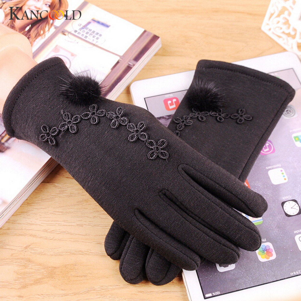 womens winter gloves Cashmere Keep Warm Driving Full Finger gloves ladies women gloves and Mittens NOVE24 ...