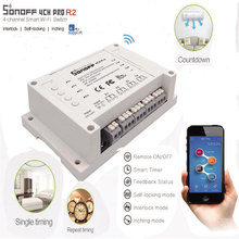 ITEAD Sonoff 4CH Pro - 4 Gang Inching/Self-Locking/Interlock WiFi RF Smart Switch for Home
