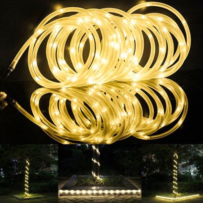 New arrivel Solar string light 7M 50 LED Solar Rope Tube LED String Strip Fairy Light Outdoor Garden Xmas Party Decor Waterproof liweek 0 4w 10lm 100 led rgb solar powered xmas party indoor outdoor fairy string light 17 meter
