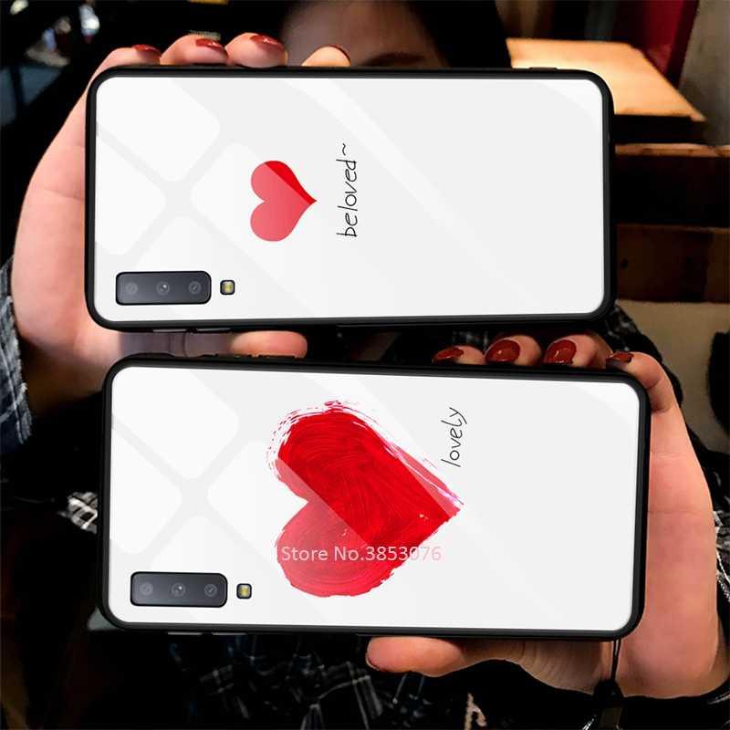 إطار زجاجي قوي للهاتف المحمول لسامسونج غالاكسي A50 A70 A50S A30S A20 S10e S10 S9 S8 زائد A7 2018 ملاحظة 10 برو 10 زائد نمط غطاء
