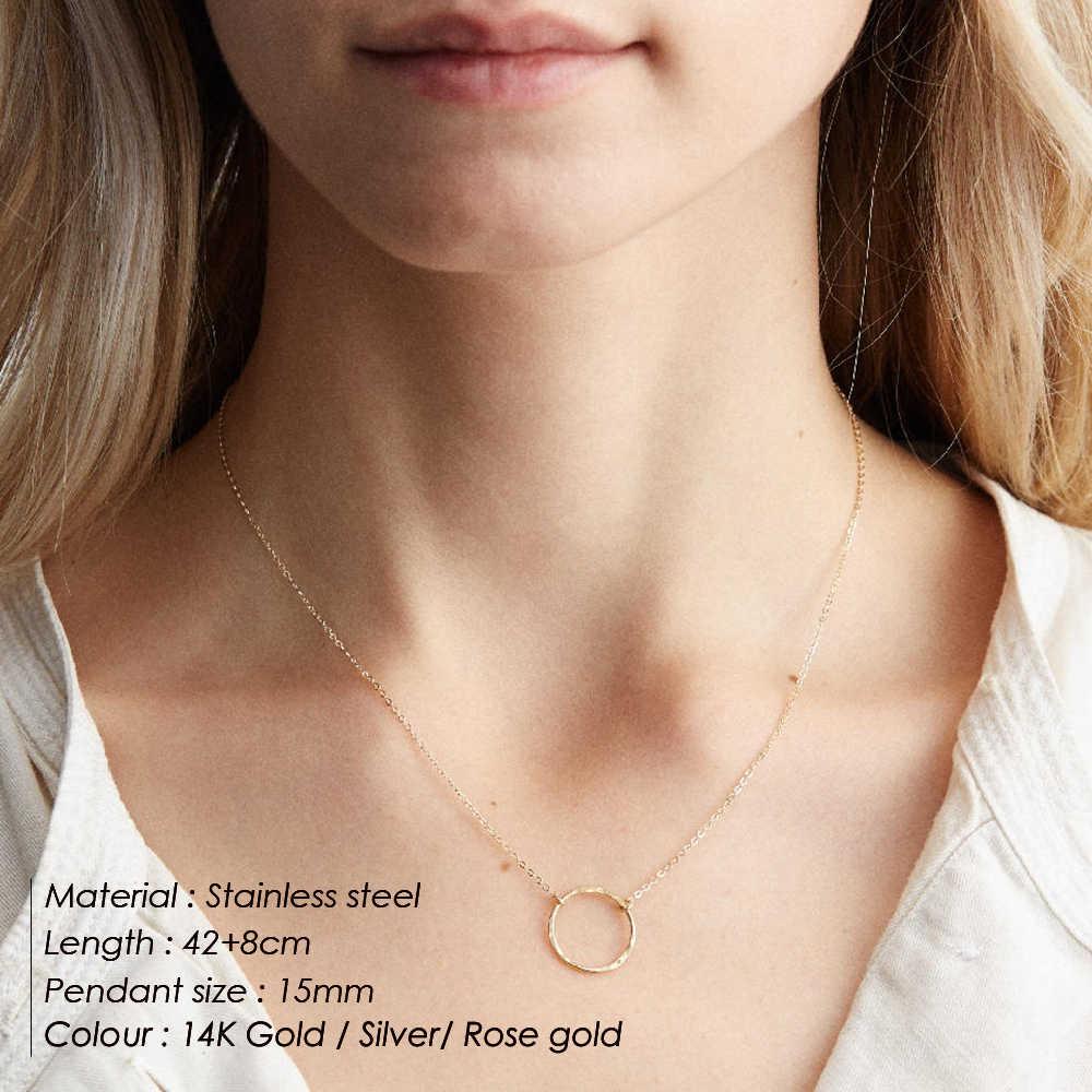 E-Manco минималистичное ожерелье из нержавеющей стали, женские парные подвески, чокеры, ожерелья для женщин, ожерелье лучших друзей