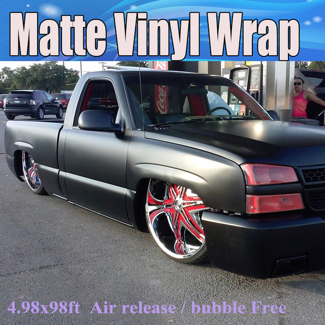 High Quality Matte Black Vinyl Wrap With Air Bubble Free Matt