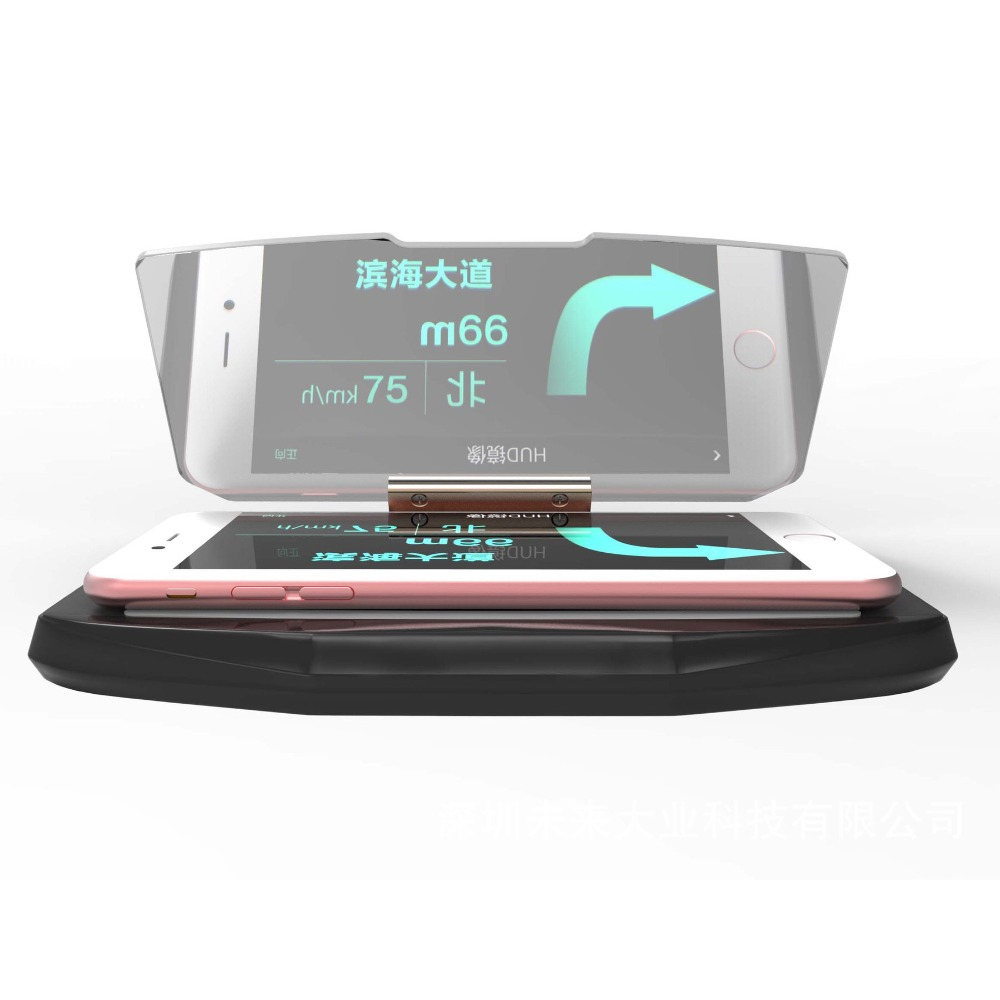 gps hud head up display mobile phone holder windscreen. Black Bedroom Furniture Sets. Home Design Ideas
