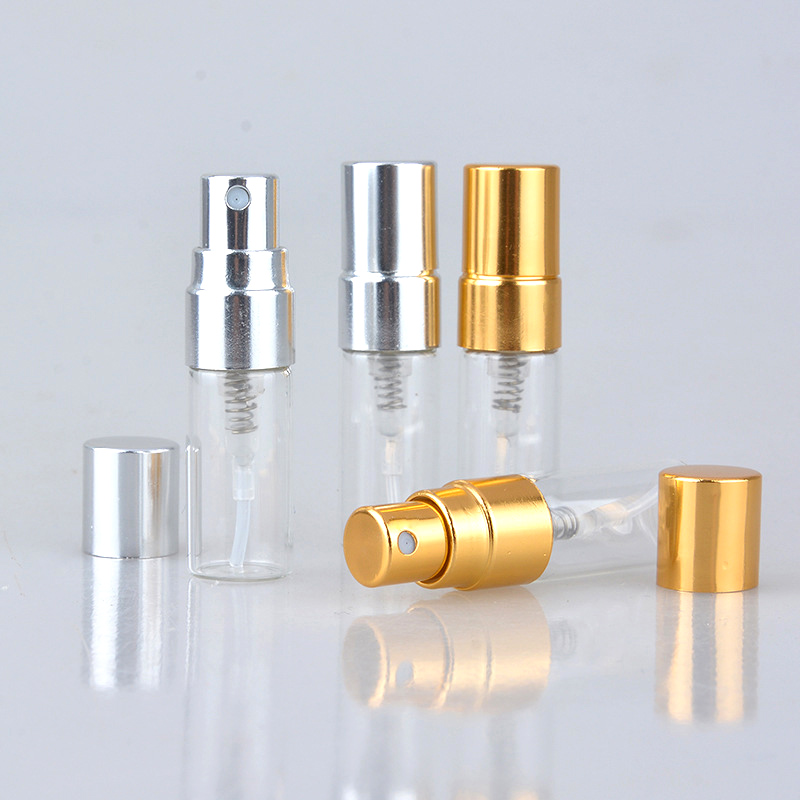 100Pieces/Lot 3ml Refillable Perfume Bottle Empty Mini Spray Bottle Aluminium Perfume Bottles Atomizer For Travel Container Pump