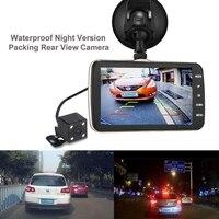 2018 Double Lentille 4.0 Pouce Écran Voiture DVR Caméra Full HD 1080 P Vidéo 170 Degrés Tableau de Bord Cam
