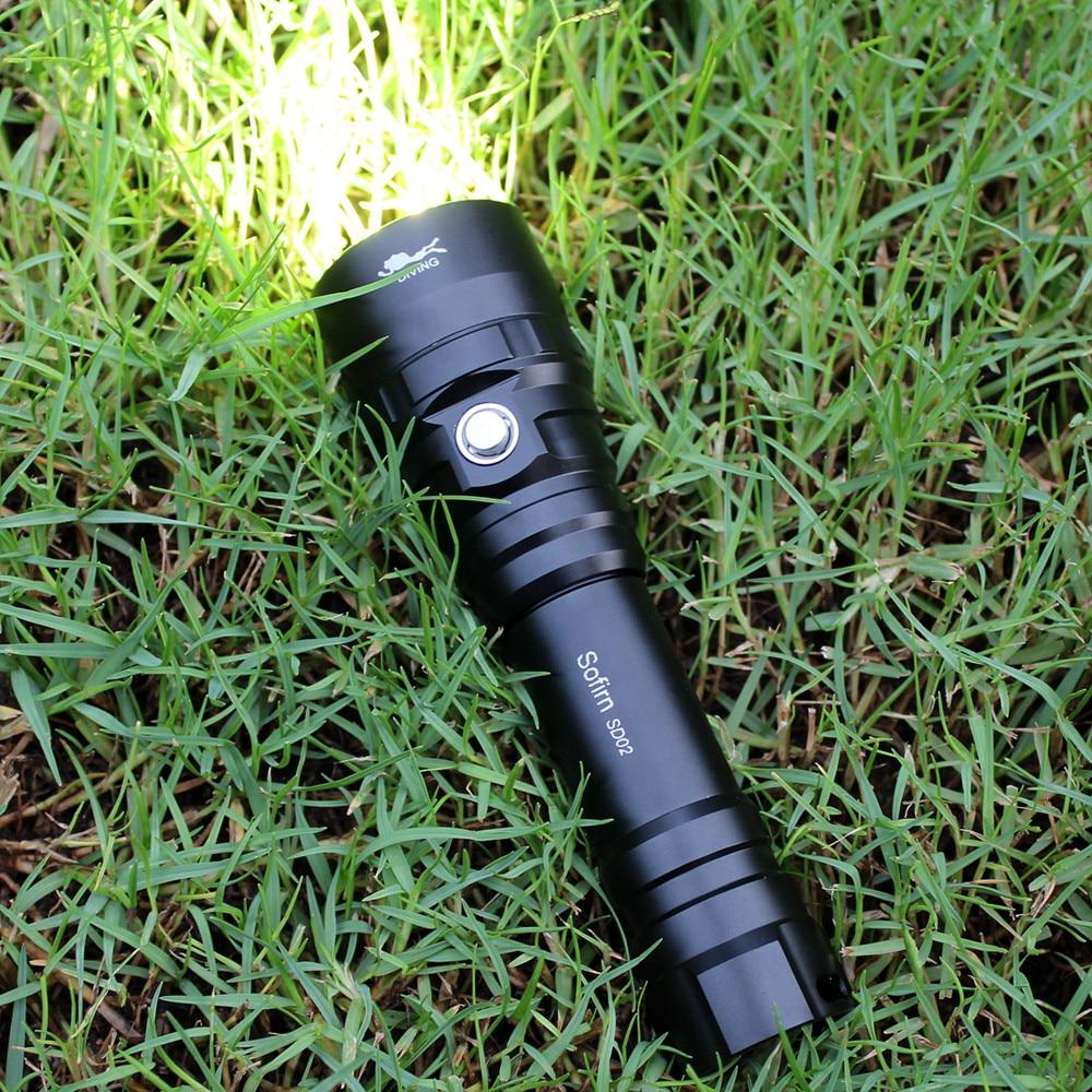 Image 5 - Sofirn SD02 профессиональный подводный фонарик 18650 мощный погружной светильник Cree XPL 1050lm светодиодный светильник подводный поисковый светильник фонарь-in Фонарики и осветительные приборы from Лампы и освещение