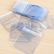100X Clear Plastic Seal Bags package gift PVC Plastic Coin Bag Case Wallets Storage Envelopes(China)