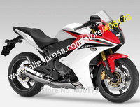 Hot Sales,For Honda CBR600F Replacement 2011 2012 2013 CBR 600F 11 13 CBR600 F Red White Motorcycle Fairing (Injection molding)