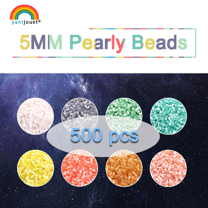 5mm Yant Jouet Pearly Beads 500 Pcs 8 Color For Kids Hama Beads Perler Beads Diy Puzzles High Quality Handmade Gift Toy