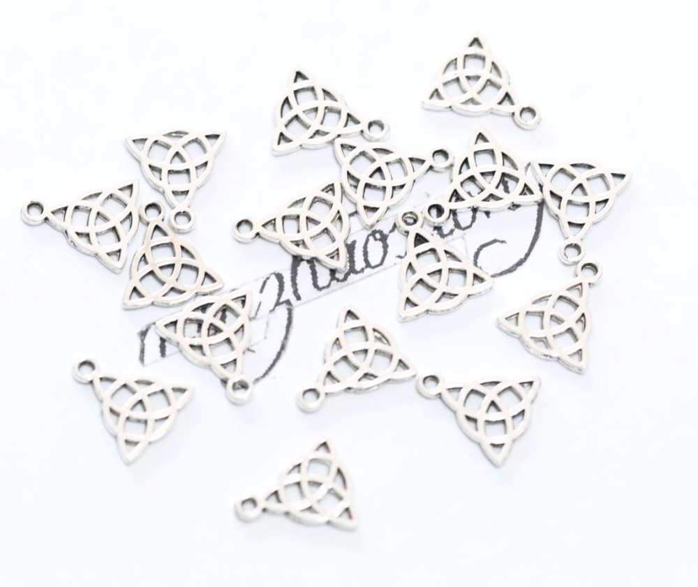 Packet of 50pcs 15 x 17mm Triangle Celtic Knot Charms Pendants Jewelry