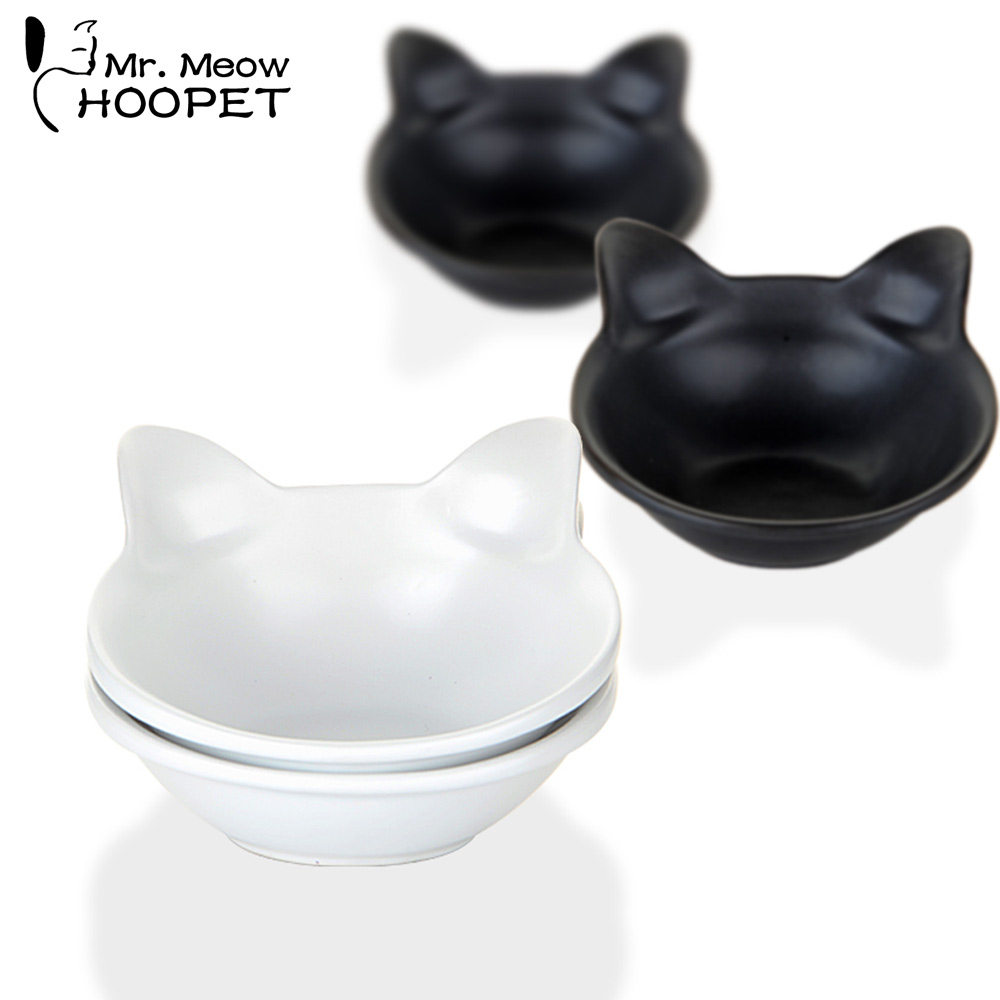 Lovely Cat Ears Ceramic Bowl Two Bowls in One Paking Dog Teddy Bear Water Birdbath Cat Rice Basin Pet Products