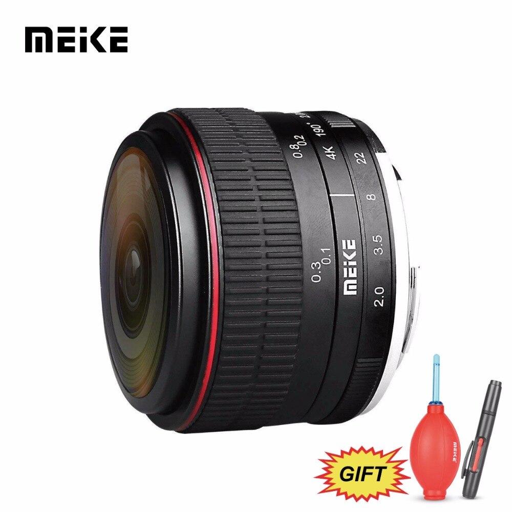 MEKE Meike 6.5mm f/2.0 Ultra Large Mise Au Point Manuelle Circulaire Fisheye pour M43 Panasonic Olympus MFT Mirrorless caméras + Cadeau Gratuit