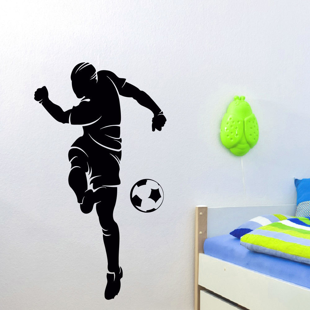 Aliexpress.com : Buy Football Vinyl Wall Decal Soccer Player Gym Sports  Mural Art Wall Sticker Boys Bedroom Football Wall Sticker Home Decoration  From ... Part 57
