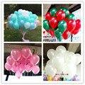 100 unids/lote 10 inch1.2g Helio globo De Látex globos Redondos 16 colores Gruesa Perla globos Globos de Cumpleaños Fiesta de Bodas