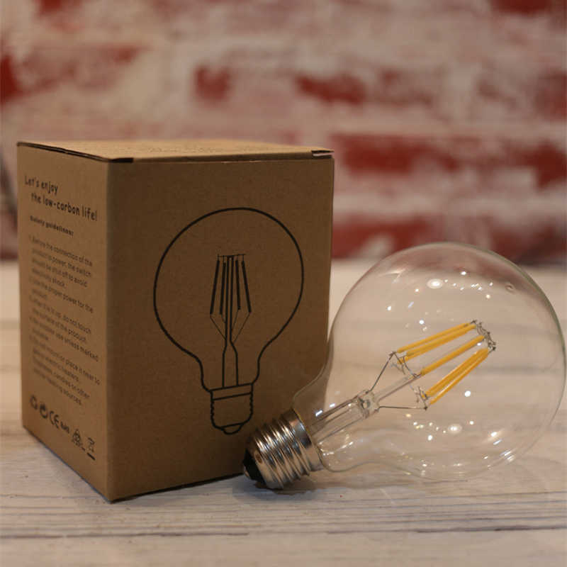 Led bulb e27 led lamp AC220v retro edison filament light g125 power led energy saving lamp replace incandescent bulb for home
