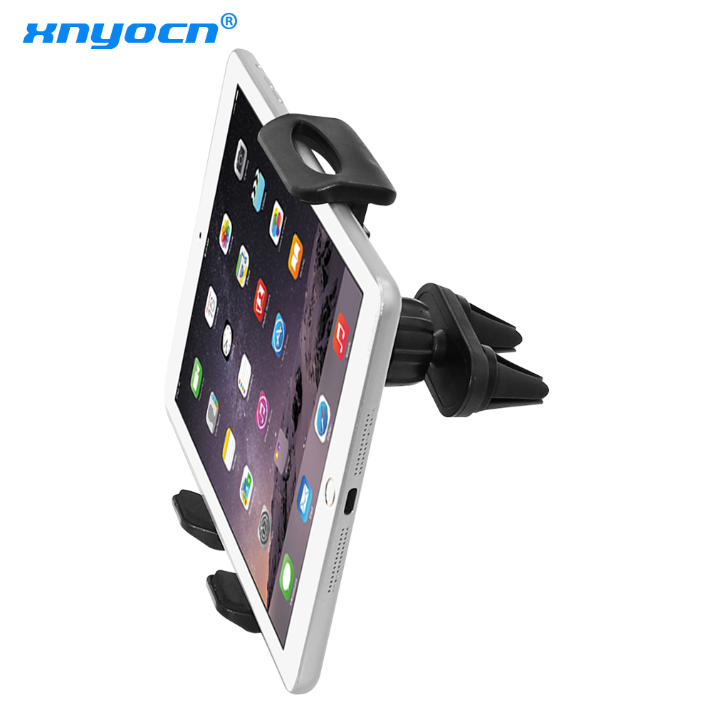 Car Air Vent Double Mount Holder Stand For 7 to 11 inch ipad mini Pro Air Samsung Galaxy Tab Tablet PC for huawei xiaomi Tablet yunai 7 11 inch tablet car air vent mount stand holder for ipad new tablet car holder navigatio mount stand for samsung