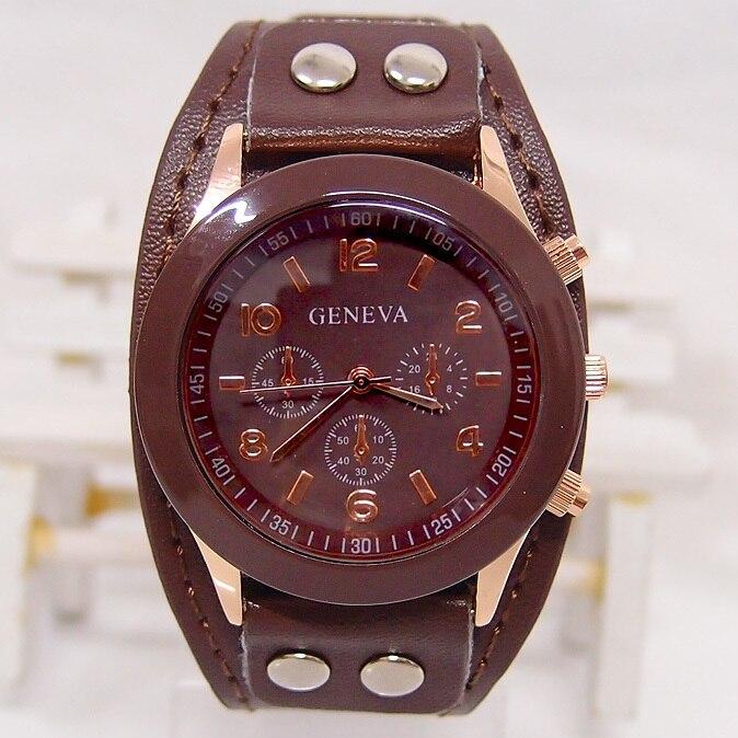 Brand women watches fashion Laether Men Women Unisex leather watch ladies Quartz Watch free shipping new