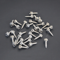 Titanium Self Tapping Screws M5 X 17 mm Self Tapping Screw Hex Head Titanium Bolts for Motorcycle 10 PCS