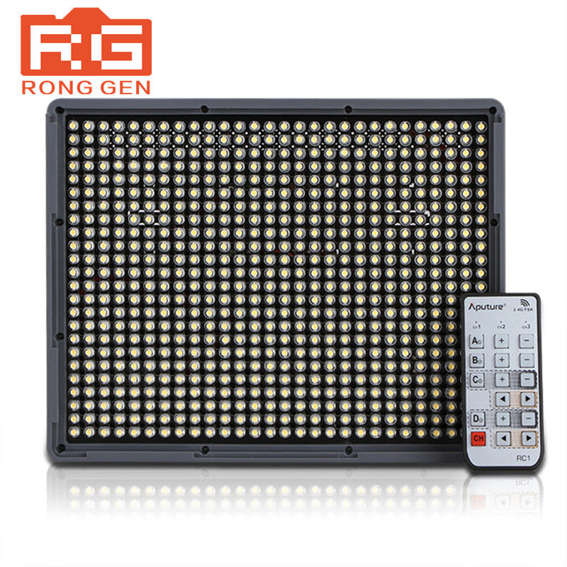 Aputure Amaran AL-HR672S LED Bulbs RA CRI95+2.4G Wireless Remote and SN304 Light Stand for Camera Video Camcorder DV