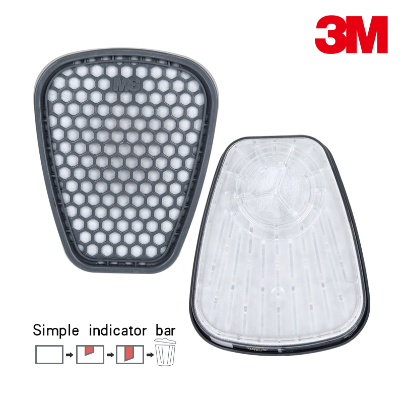 US $25 98 |3M 6001i 6001 Organic Vapor filters gas mask Respirator use  Service Life Indicator Filters 6001 Series use for 7502 6200 6800-in Safety