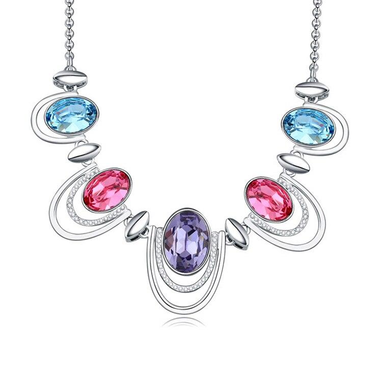 2018 colliers et pendentifs en cristal plaqué alliage bijoux et bijoux 2016 collier long femmes bijoux de mode en gros
