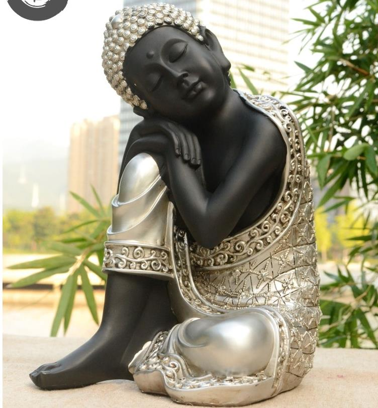 Southeast Asian style sleeping buddha sculpture, Buddha statue, Buddha figurine, Zen ornament, Thai sleeping buddha figurine