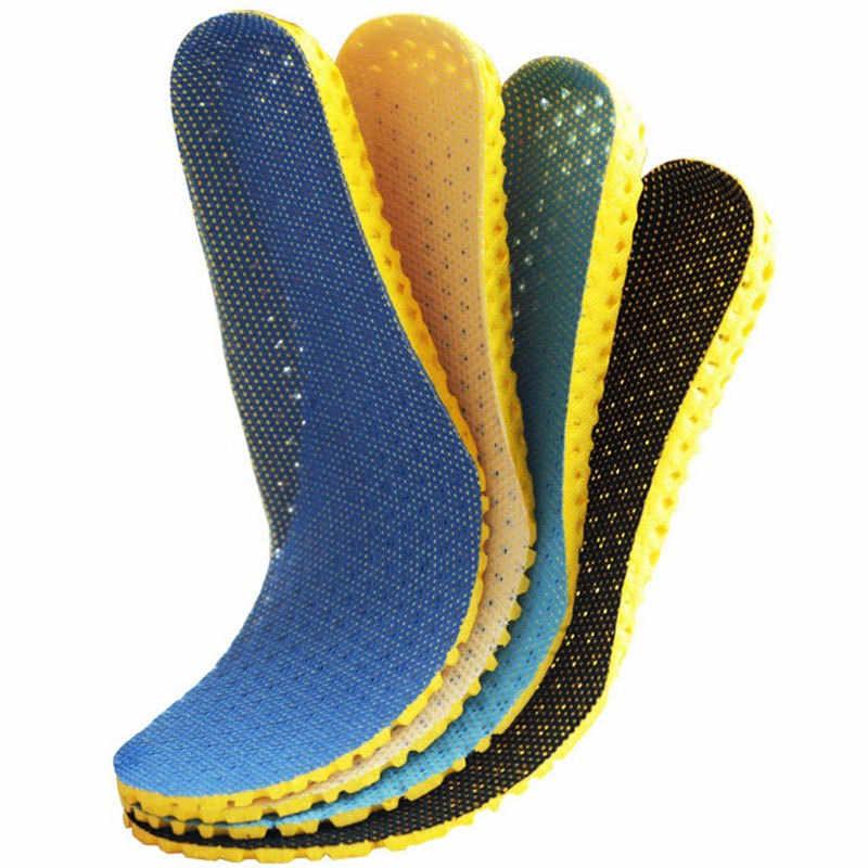 Erkekler kadınlar spor spor ayakkabılar aksesuarları tabanlık nefes Sneakers ortopedik ışık Deodorant şok yastık ayakkabı pedi